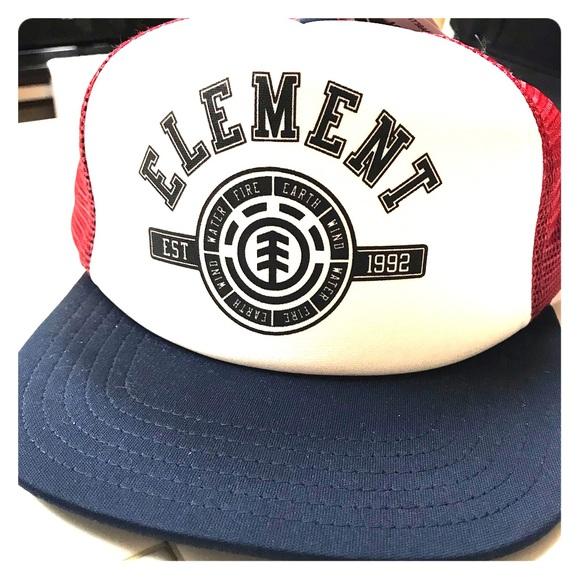 Element Bam Margera Maroon Snapback Mesh Back Trucker Ball Cap Hat